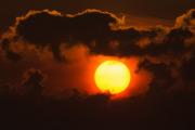 Färgsprakande morgonsol